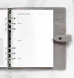 Projects & Goals Tracker Refill - A5