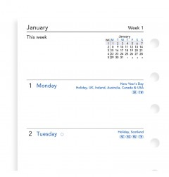 Week On Two Pages Diary Pocket 2021