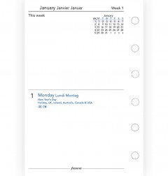 Two Days On One Page Diary Pocket English/French/German