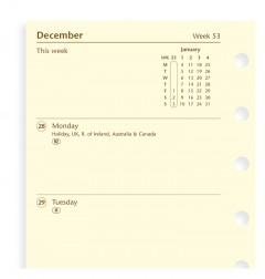 Week On Two Pages Diary Pocket 2020 Cotton Cream