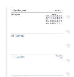 Week On Two Pages Academic Diary Pocket 2019-2020