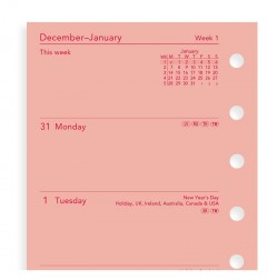 Week On Two Pages Diary Pocket Pink 2021