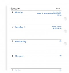 Week On One Page Diary Personal 2021