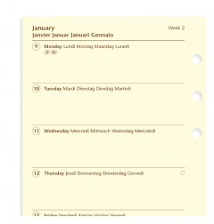 Week On One Page Diary Personal 2021 Cotton Cream