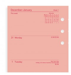 Week On Two Pages Diary Personal Pink 2021