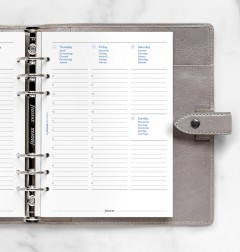Any Year Week On Two Pages Diary With Appointments A5