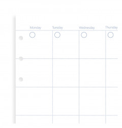 Clipbook Undated Month Planner Refill
