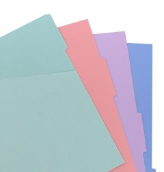 Filofax Notebook Pocket Pastel Coloured Indices