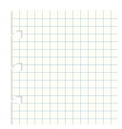 Filofax Notebook Pocket Squared Paper Refill