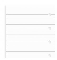 White Ruled Notepaper Mini Refill