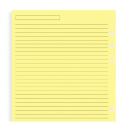 Yellow Ruled Notepaper A5 Refill