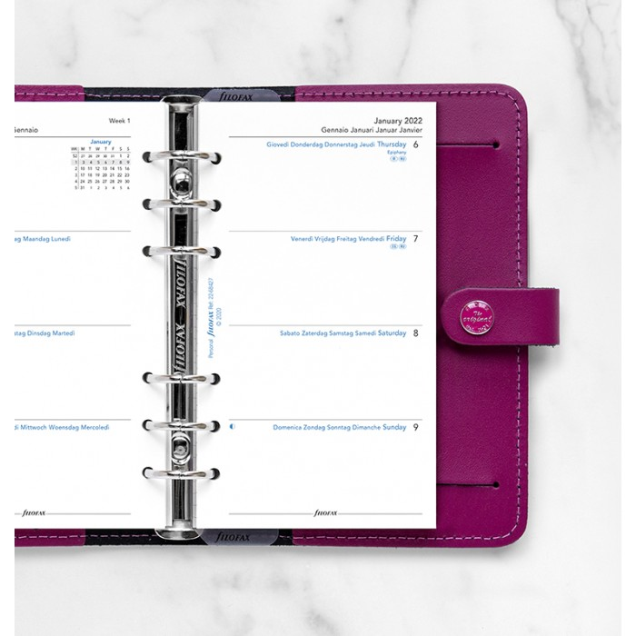 Week On Two Pages Diary Personal 2022