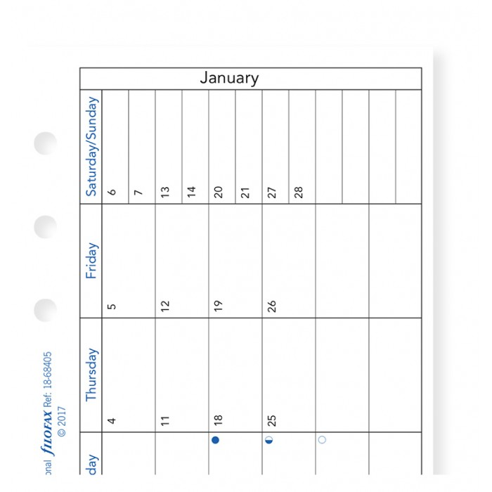 Month On One Page Diary with Notes Personal 2019