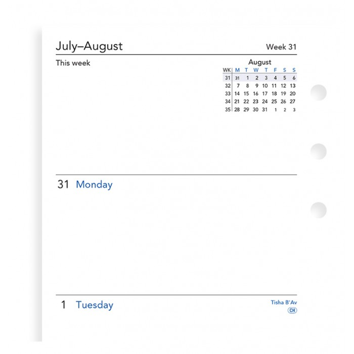 Week On Two Pages Academic Diary Personal 2018-2019