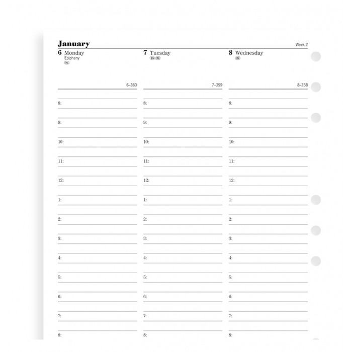 Week On Two Pages Diary With Appointments Deskfax 2021