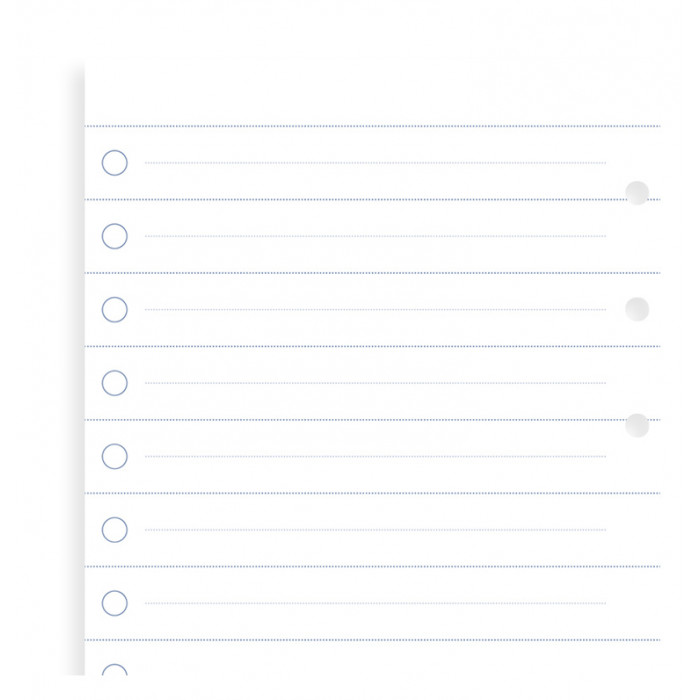 Clipbook Checklists Refill
