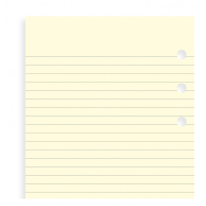 Cotton Cream Ruled Notepaper Refill