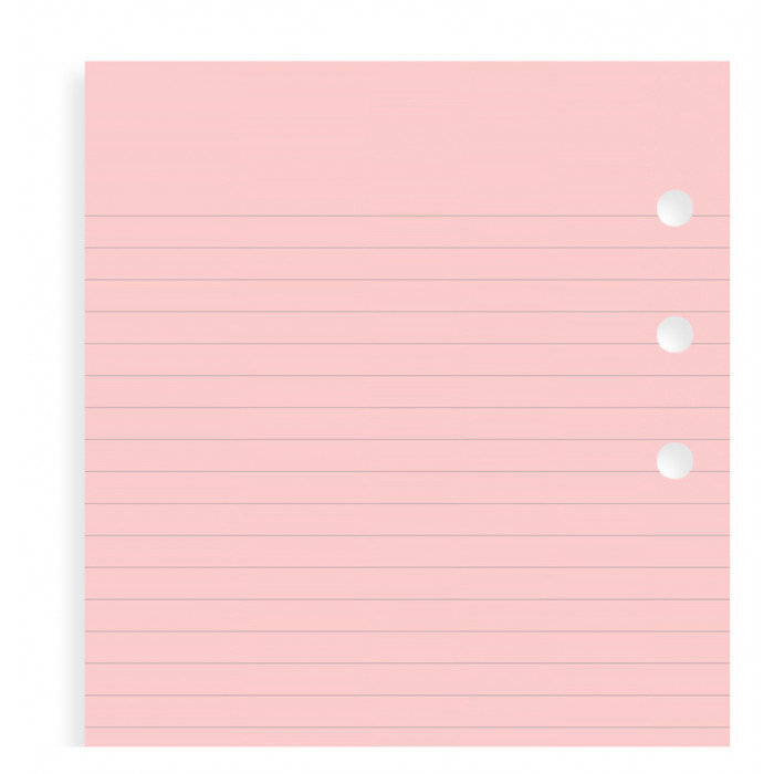 Pink Ruled Notepaper Personal Refill