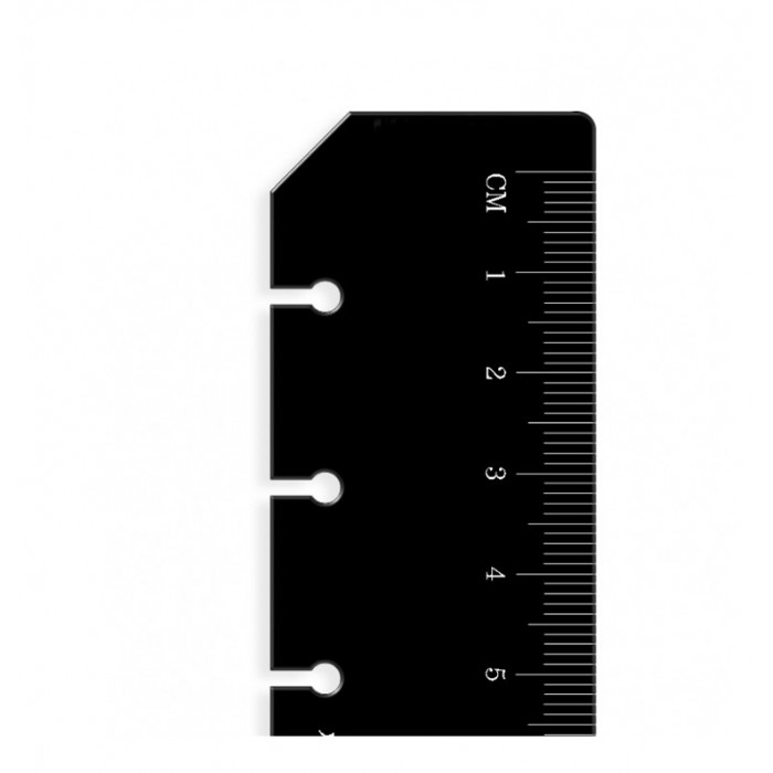 Ruler Page Marker Black Pocket