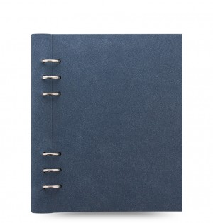 Clipbook Architexture A5 Notebook Blue Suede