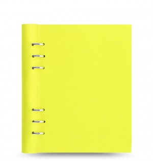 Clipbook Saffiano Fluoro A5 Notebook Yellow