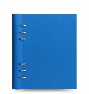 Clipbook Saffiano Fluoro A5 Notebook Blue