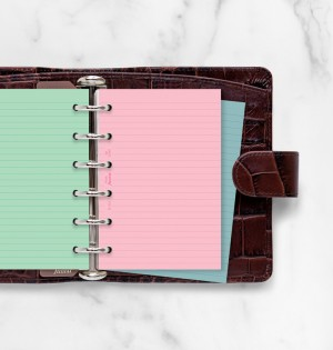 Fashion Coloured Ruled Notepaper Pocket Refill