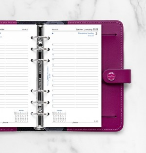 One Day on Two Pages Diary, English/French, Personal
