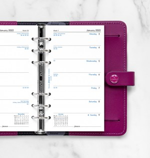 Week On One Page Diary Personal