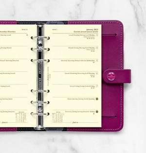 Week On One Page Diary Personal Cotton Cream