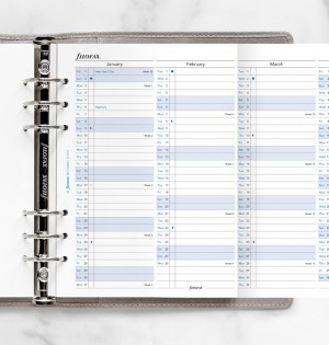 Vertical Year Planner A5