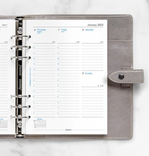 Week On Two Pages Diary With Appointments A5