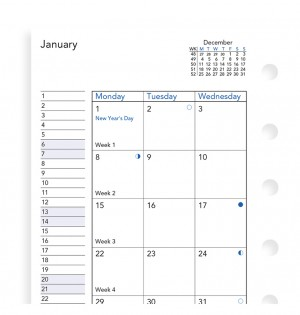 Month On Two Pages Diary Pocket 2020