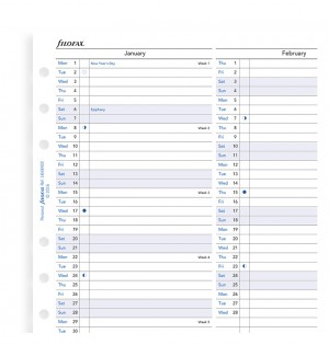Vertical Year Planner Personal 2021