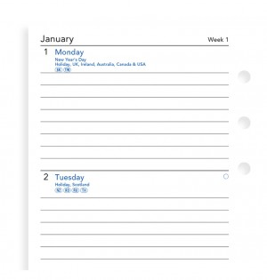 Week On Two Pages Lined Diary Personal 2019