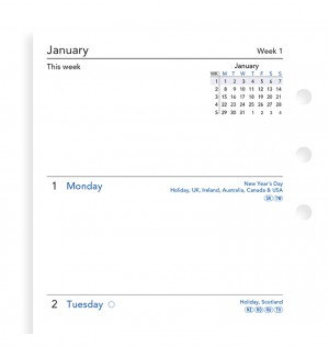 Week On Two Pages Diary Personal 2021
