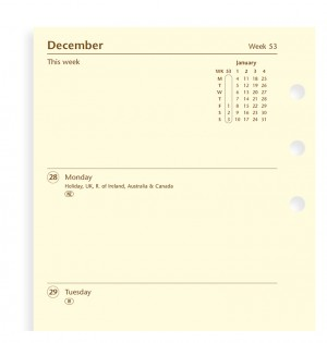 Week On Two Pages Diary Personal 2020 Cotton Cream