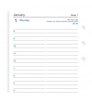 One Day On A Page Diary With Appointments Personal 2021