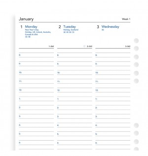 Week On Two Pages Diary With Appointments A5 Multifit 2021