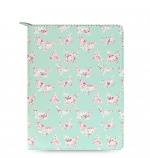 Patterns Zip Large Tablet Cover Butterfly