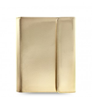 eniTAB360 Small Universal Tablet Case - Saffiano Wrap Gold