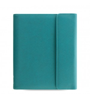 eniTAB360 Large Universal Tablet Case - Saffiano Wrap Aquamarine