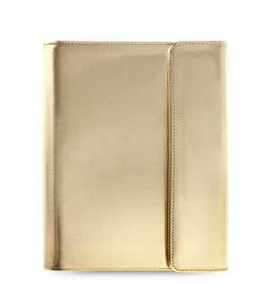 eniTAB360 Large Universal Tablet Case - Saffiano Wrap Gold