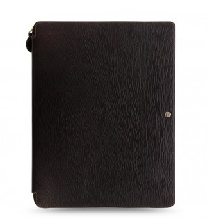 Chester A4 Zip Writing Folio Brown