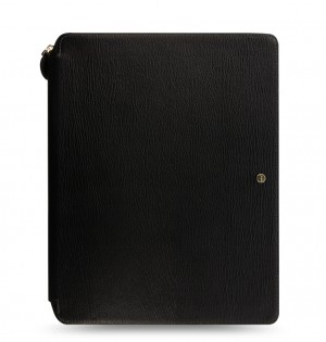 Chester A4 Zip Writing Folio Black