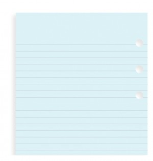 Blue Ruled Notepaper Refill
