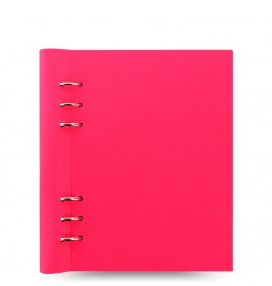 Clipbook Saffiano Fluoro A5 Notebook Pink
