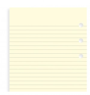 Cotton Cream Ruled Notepaper Pocket Refill