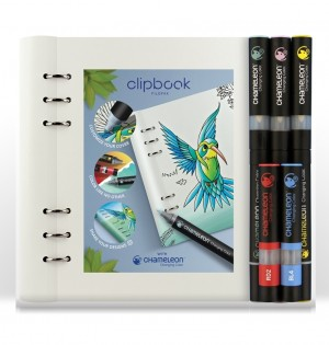 Clipbook A5 White & Chameleon Pens Bundle