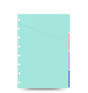 Filofax Notebook A5 Pastel Coloured Indices
